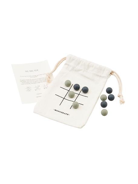 Gioco da tavolo Tic Tac Toe, 10 pz., Tessuto, legno, Multicolore, Larg. 10 x Alt. 12 cm