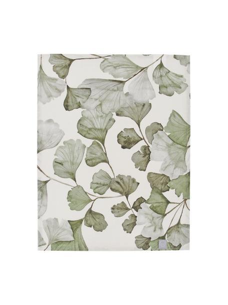 Tovaglietta americana in cotone con motivo foglie Gigi 2 pz, 100% cotone, Beige, verde, Larg. 35 x Lung. 45 cm