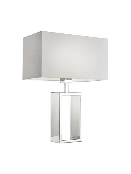 Lámpara de mesa Shanghai, Cromo, blanco, An 35 x Al 47 cm