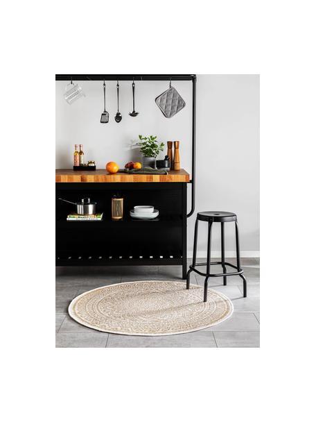 Okrągły dywan wewnętrzny/zewnętrzny Cleo, 90% polipropylen, 10% poliester, Beżowy, kremowy, Ø 120 cm (Rozmiar S)