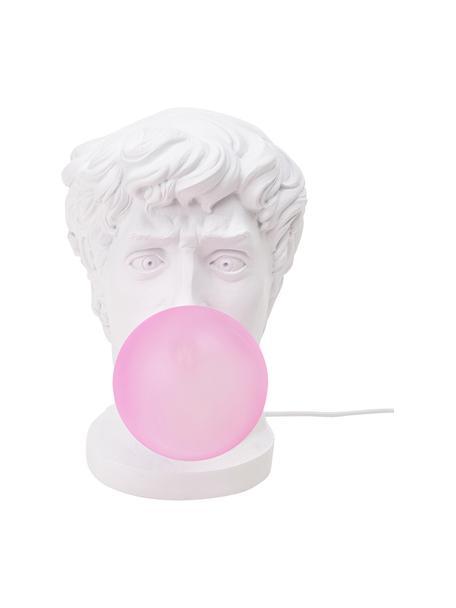 Design tafellamp Wonder Times, Lampenkap: glas, Wit, roze, 13 x 41 cm