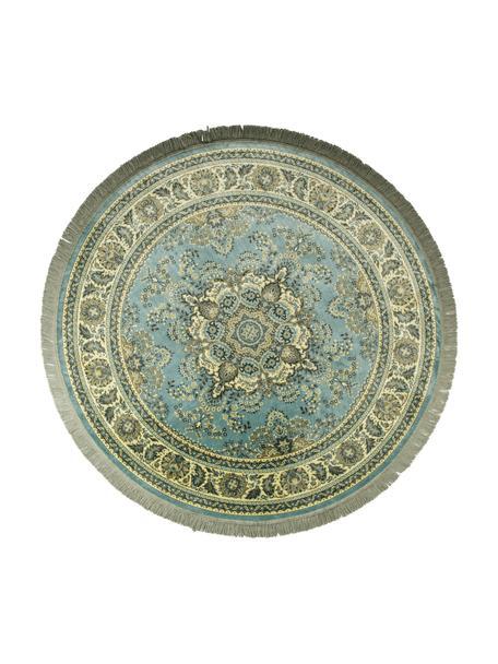 Tappeto rotondo in miscela di cotone Bodega, Retro: Latex, Tonalità verde, Ø 175 cm (taglia L)