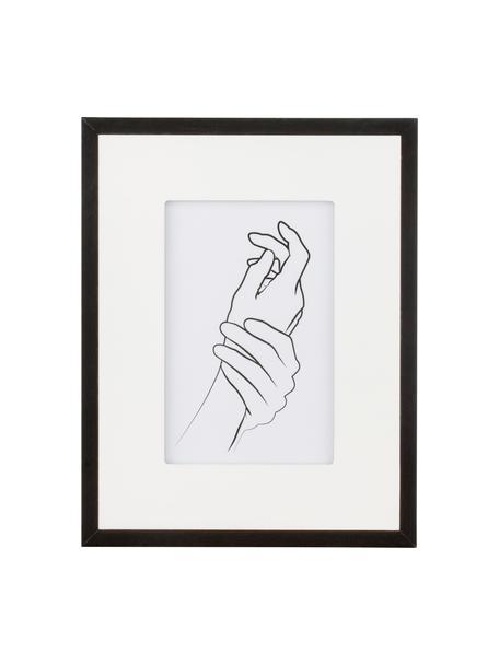 Fotolijstje Austin Hands, Lijst: gecoat MDF, Zwart, 10 x 15 cm