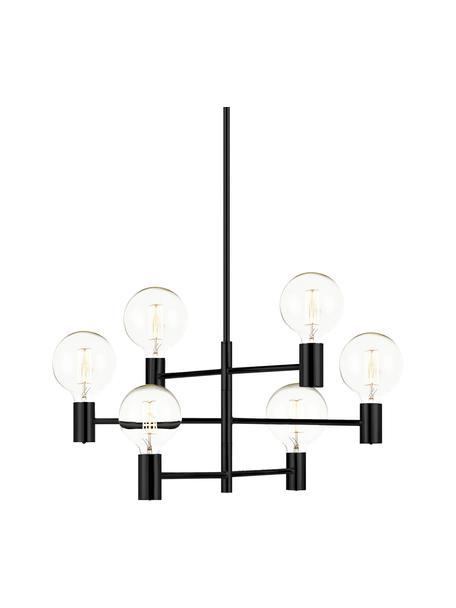 Grote hanglamp Capital in zwart, Gecoat staal, Zwart, Ø 63 cm