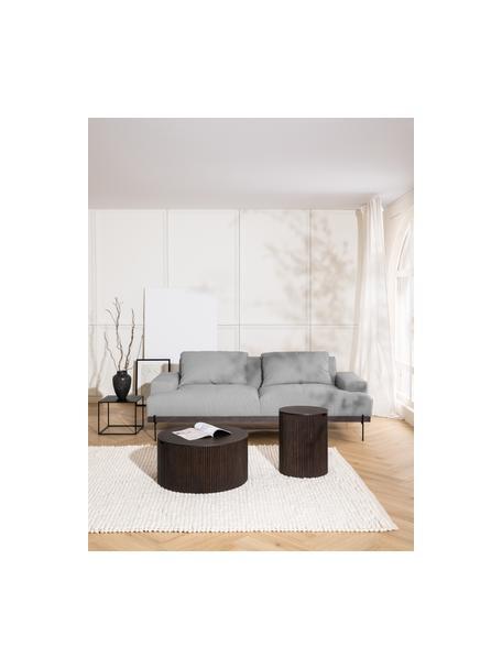 Sofa z metalowymi nogami Brooks (3-osobowa), Tapicerka: poliester Tapicerka nie j, Stelaż: lite drewno sosnowe, Nogi: metal malowany proszkowo, Szary, S 230 x G 98 cm