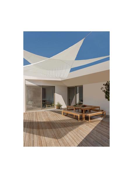 Toldo vela de sombra Triangle, Cordón: nylon, Blanco, An 360 x L 360 cm