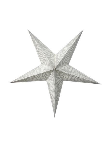 Papier-Stern Icilisse mit Möglichkeit zur Beleuchtung, Papier, Silberfarben, 40 x 40 cm