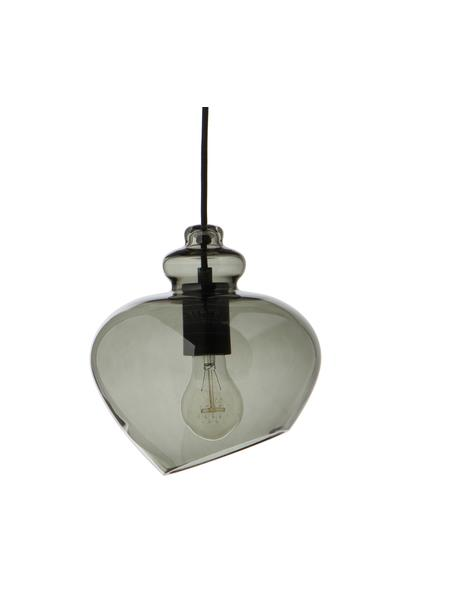 Lampa wisząca ze szkła Grace, Szary, Ø 21 x W 26 cm