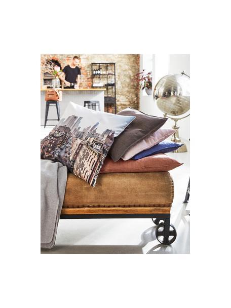 Poszewka na poduszkę z lnu Sven, Len, Pudroworóżowy, S 40 x D 40 cm