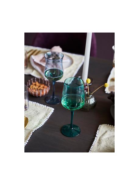Set 6 bicchieri vino in vetro soffiato Desigual, Vetro soffiato, Multicolore, Ø 7 x Alt. 24 cm