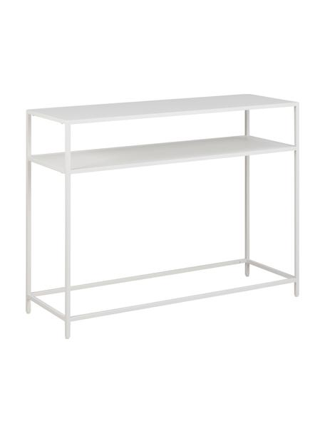 Libreria in metallo bianco Newton, Acciaio verniciato, Bianco, Larg. 100 x Alt. 79 cm