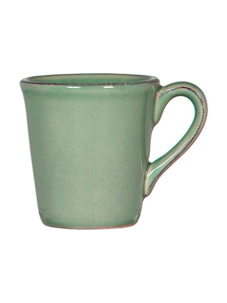 Tazzina caffè in gres verde salvia Constance 2 pz, Gres, Verde salvia, Ø 8 x Alt. 6 cm
