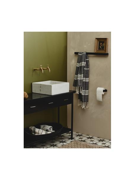 WC-papierhouder Sotra, Gecoat metaal, Zwart, 17 x 4 cm