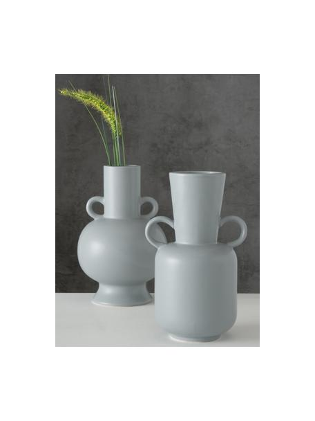 Set 2 vasi di design in gres Danjin, Gres, Grigio, Set in varie misure