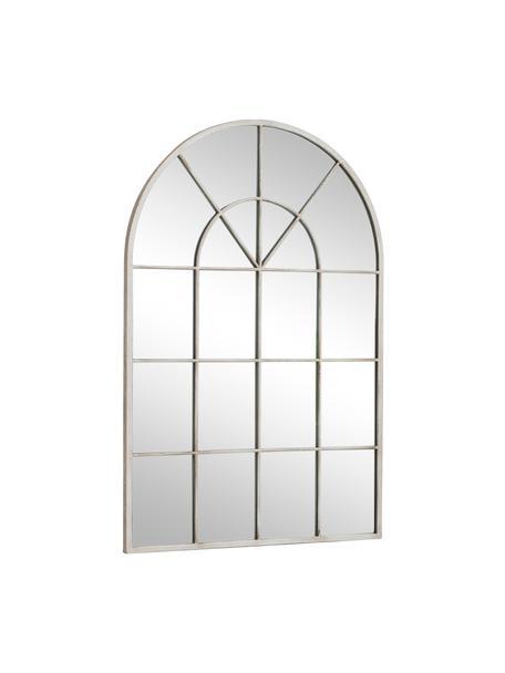 Specchio da parete Kelford, Cornice: metallo verniciato, Superficie dello specchio: lastra di vetro, Beige, Larg. 60 x Alt. 90 cm