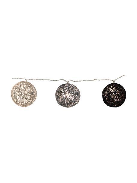 Ghirlanda a LED Jolly Lights, 435 cm, 10 lampioni, Lanterne: cotone, Nero, Lung. 435 cm