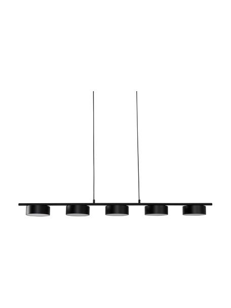 Grote LED hanglamp Lenny, Baldakijn: gecoat metaal, Zwart, 124 x 80 cm