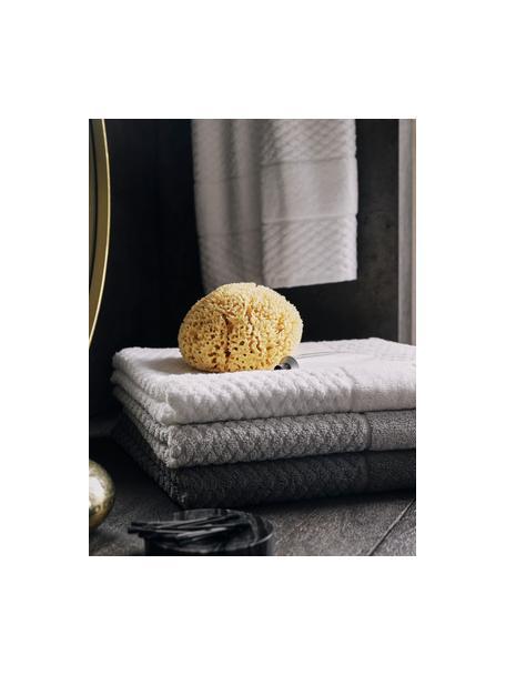 Asciugamano con motivo a nido d'ape Katharina, Grigio scuro, Asciugamano