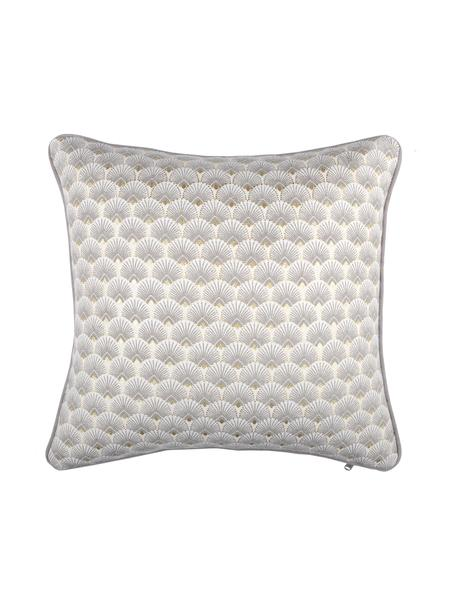 Cuscino con imbottitura Corosol, 100% cotone, Grigio, oro, Larg. 40 x Lung. 40 cm
