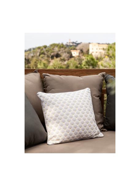 Cojín Corosol, estilo Art Deco, con relleno, 100%algodón, Gris, oro, An 40 x L 40 cm