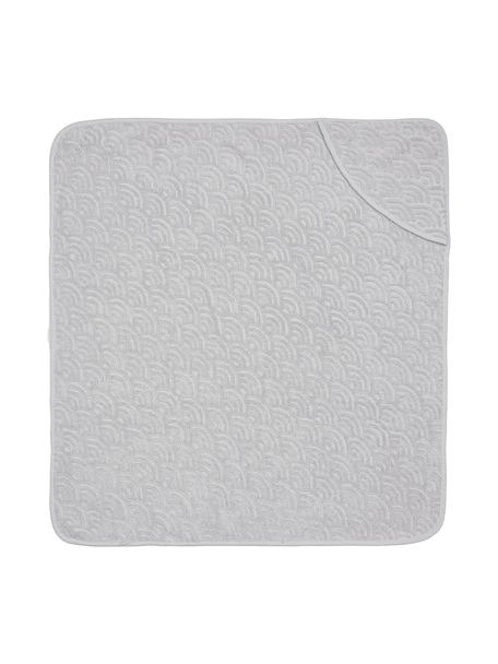Ręcznik kąpielowy dla dzieci z bawełny organicznej Fluff, 100% bawełna organiczna, Szary, S 105 x D 105 cm