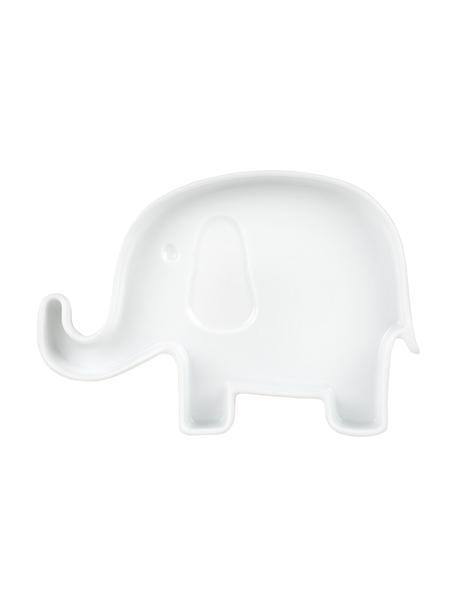 Piatto piano per bambini in porcellana Elefant, Porcellana, Bianco, Larg. 18 x Alt. 2 cm