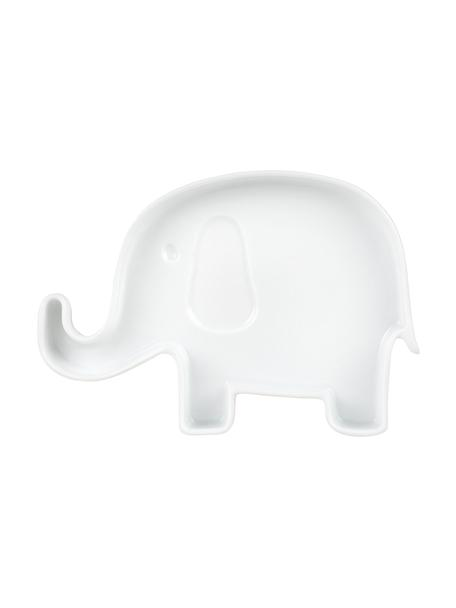 Plato llano infantil de porcelana Elefant, Porcelana, Blanco, An 18 x Al 2 cm