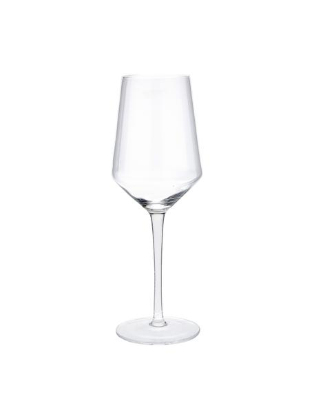 Copas de vino blanco sopladas artesanalmente Ays, 4uds., Vidrio, Transparente, Ø 6 x Al 24 cm