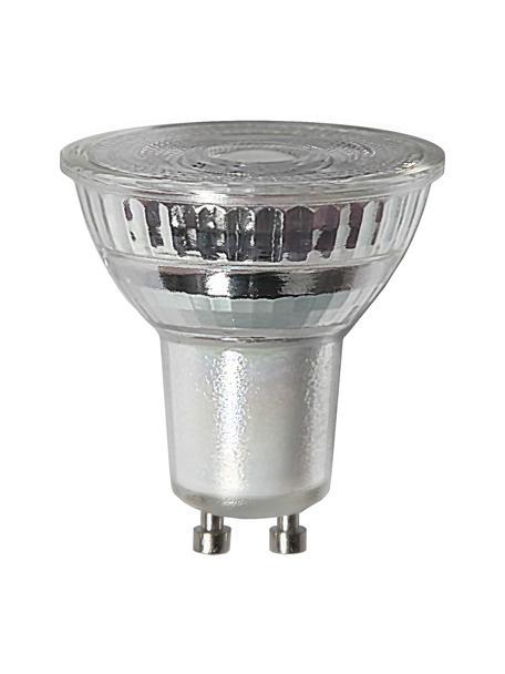 GU10 peertje, 4.5 watt, dimbaar, warmwit, 3 stuks, Peertje: glas, Fitting: aluminium, Transparant, Ø 5 x H 5 cm