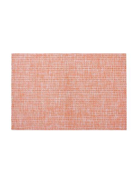 Manteles individuales Lohan, 2uds., PVC, PET, Melocotón, An 30 x L 45 cm