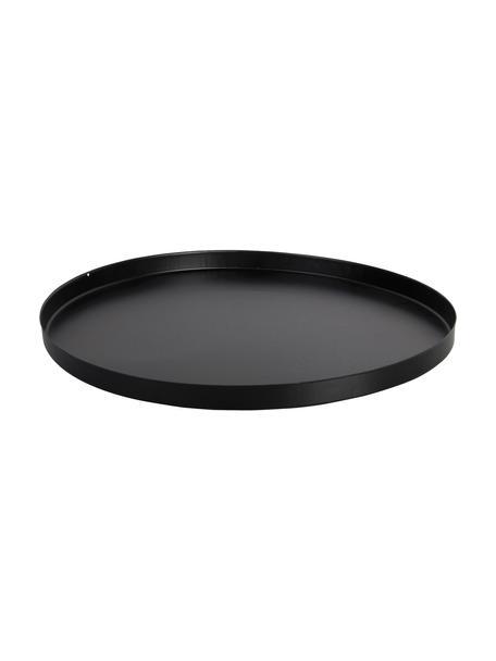 Bodenplatte für Feuerkörbe Quare, Metall, beschichtet, Schwarz, Ø 50 x H 3 cm