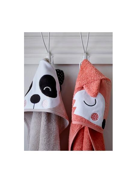 Toalla capa de algodón ecológico Panda Penny, 100%algodón ecológico, Beige, blanco, gris oscuro, An 80 x L 80 cm