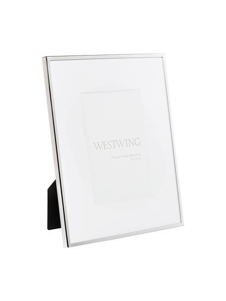 Cornice da tavolo dorata Memento, Cornice: metallo nichelato, Retro: legno, velluto, Argento, Larg. 20 x Alt. 24 cm