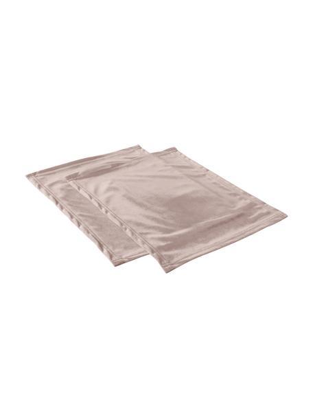 Podkładka z aksamitu Simone, 2 szt., 100% aksamit poliestrowy, Blady różowy, S 35 x D 45 cm