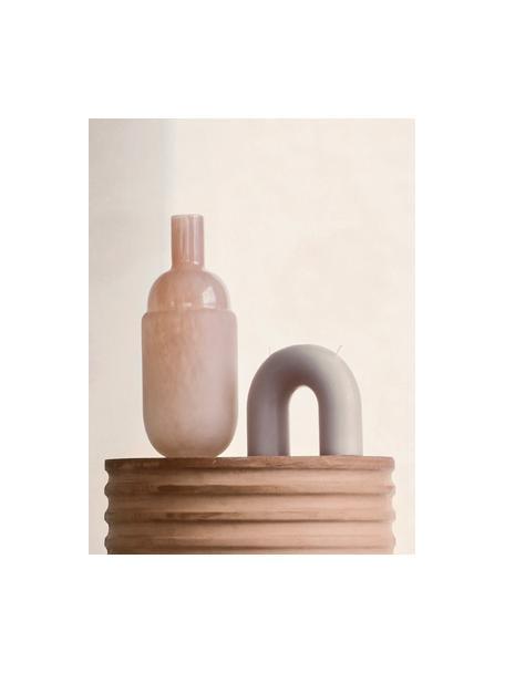 Świeca z dwoma knotami Bend, Wosk, Szary, S 17 x W 15 cm