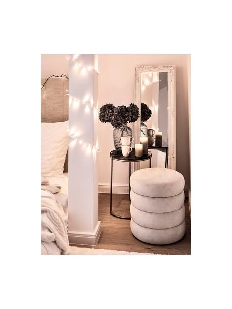 Specchio da terra con cornice in legno Miro, Cornice: legno, rivestito, Superficie dello specchio: lastra di vetro, Bianco, Larg. 40 x Alt. 160 cm