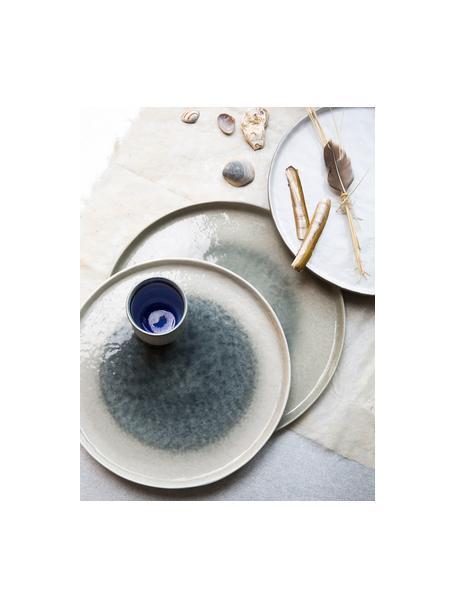 Ontbijtborden Porcelino Sea, 6 stuks, Porselein, Beige, grijsgroen, Ø 21 cm