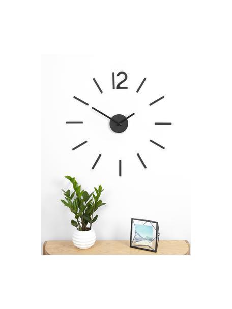 Reloj de pared Blink, Aluminio pintado, Negro, Ø 60 cm