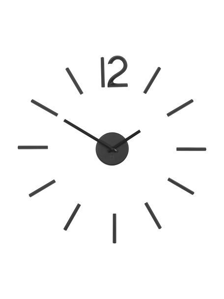 Zegar ścienny Blink, Aluminium lakierowane, Czarny, Ø 60 cm