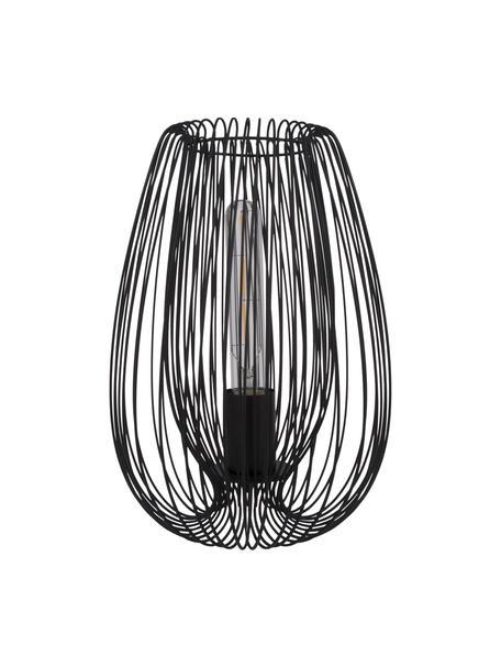 Lámpara de mesa pequeña de metal Lucid, Lámpara: metal pintado, Cable: plástico, Negro, Ø 22 x Al 33 cm