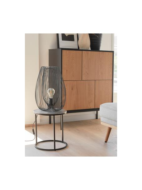 Kleine tafellamp Lucid van metaal, Lamp: gelakt metaal, Zwart, Ø 22 x H 33 cm