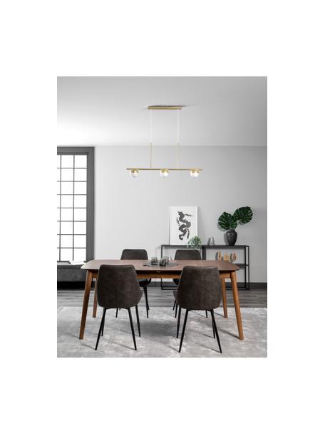 Große Pendelleuchte Contina mit Opalglas, Lampenschirm: Opalglas, Baldachin: Metall, beschichtet, Weiß, Messingfarben, 90 x 42 cm