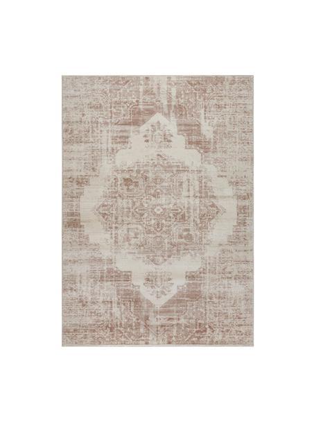 Teppich Garonne im Vintage Style, Flor: 100% Polypropylen, Kupferbraun, Beige, B 120 x L 170 cm (Größe S)