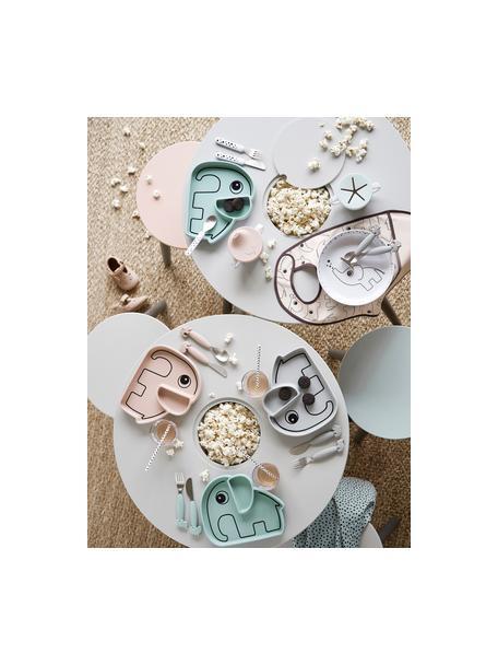 Snack-Teller Stick & Stay Elphee, Silikon, lebensmittelecht Silikon ist weich und haltbar, hitzebeständig und für die Verwendung in Mikrowellen, Backöfen und Gefrierschränken geeignet., Rosa, 21 x 3 cm