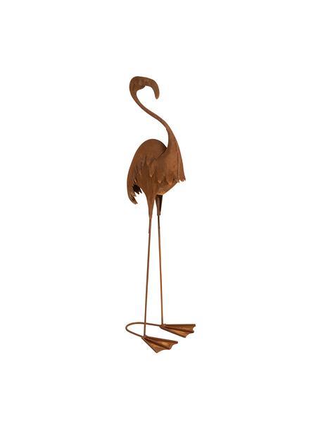 Decoratief object Flamingo, Metaalkleurig, Roodbruin, 18 x 64 cm