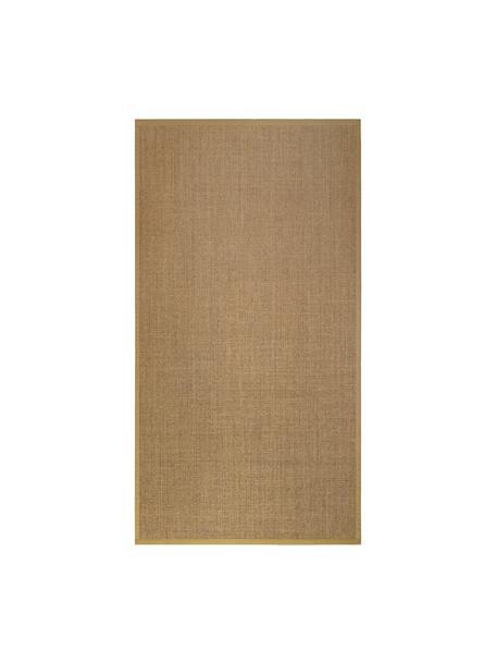 Sisal vloerkleed Leonie in beige, Bovenzijde: 100% sisal vezels, Onderzijde: latex, Beige, B 80 x L 150 cm (maat XS)