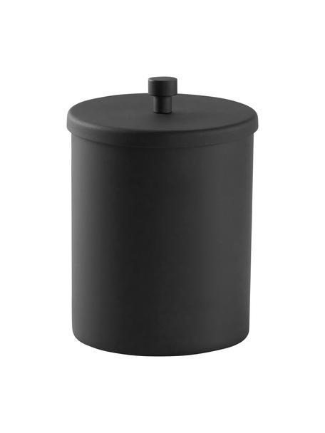 Opbergpot Sasha, Gecoat metaal, Zwart, Ø 10 x H 14 cm
