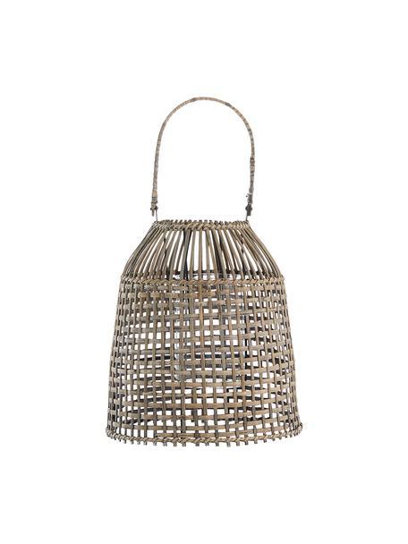 Ręcznie wykonana latarenka Hazel, Stelaż: rattan, Beżowy, Ø 24 x W 26 cm