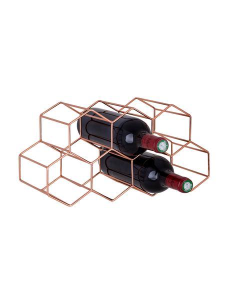 Wijnrek Hexagon voor 7 flessen, Koper, Koperkleurig, 37 x 16 cm