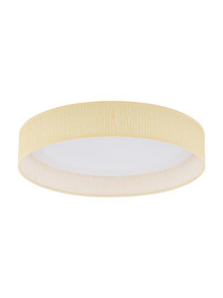 LED plafondlamp Helen Nature, Diffuser: kunststof, Beige, Ø 35 x H 7 cm